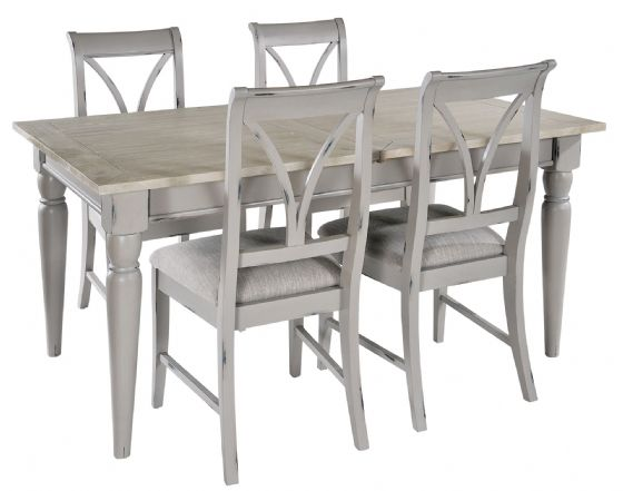 Lostwithiel Grey Extending Dining Table - Special Order
